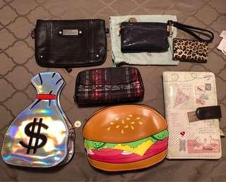 Wallets purses bags