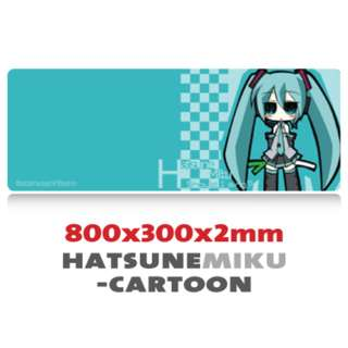 Hatsune Miku Cartoon Extra Large Mousepad Anti-Slip Gaming Office Desktop Coffee Dining Tabletop Decorative Mat