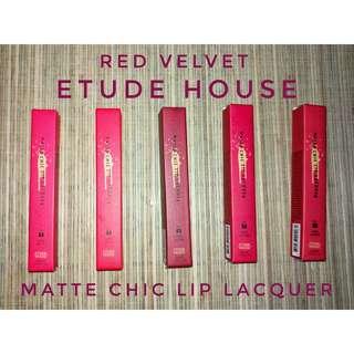 RED VELVET ETUDE HOUSE MATTE CHIC LIP LACQUER