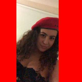 Trendy red beret