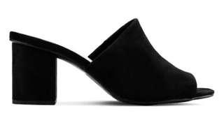 Black Mules Size 7