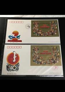 China Stamp - J163M 中华人民共和国成立四十周年小型张 首日封 Miniature / Souvenir Sheet A/B FDC 中国邮票 1989 J163