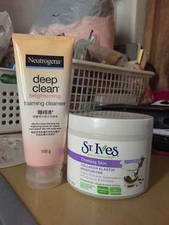 Bundle: Neutrogena Cleanser & St. Ives Collagen Moisturiser