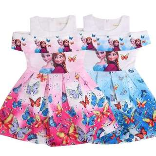 Frozen Anna & Elsa Off shoulder Dress