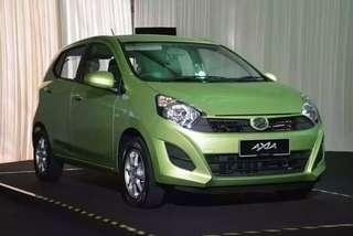 Perodua Axia 1.0(A) untuk sewa Grab
