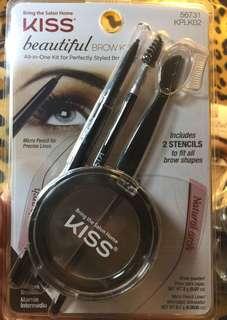 100% Authentic Kiss Beautiful Brow Kit