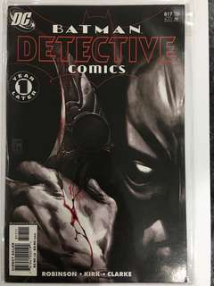 BATMAN DETECTIVE comics 817