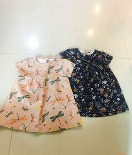 (Reserved) Set of 2 Baby Girl Dresses from Zara