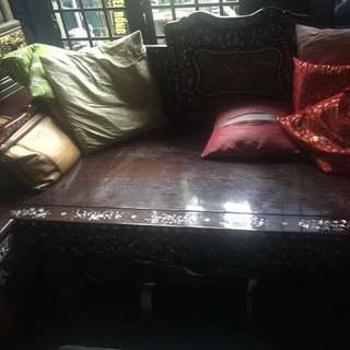 An Old Mother Of Pearl Blackwood Daybed