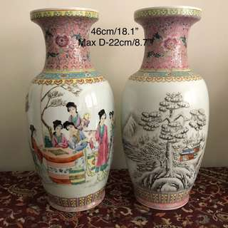 A pair of Porcelain vase good condition