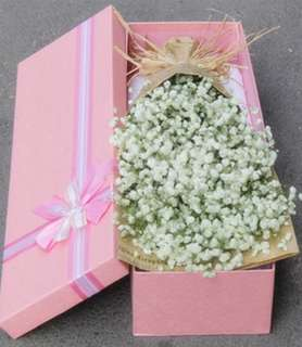 Mother's Day Gifts Box / Flower bouquet / baby breaths bouquet