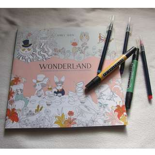 Adult Coloring Book - WONDERLAND by Amily Shen