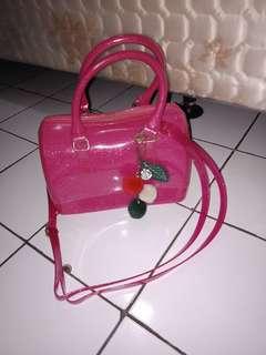 Tas jelly furla pink