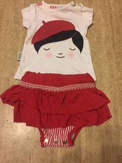 Sooki Baby tshirt and skirt set