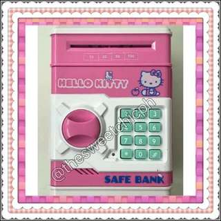 Hello Kitty Electronic ATM Bank/Vault with Lock