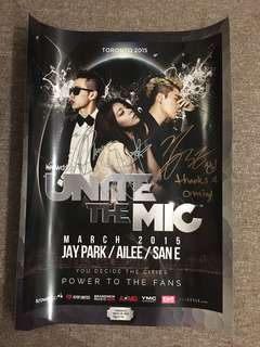 SIGNED Jay Park, Ailee, San E poster