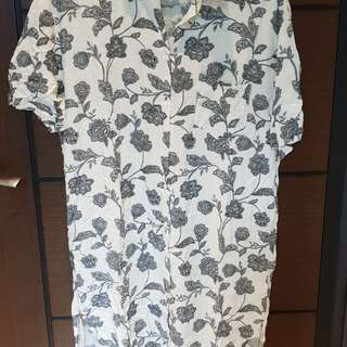🚚 韓版純棉長洋罩衫
