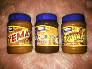 Pure Yema, Choco Yema and Roasted Peanut Butter