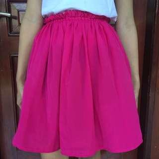 pink neon skirt