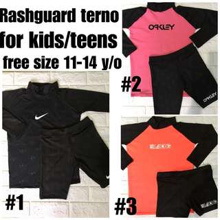 RASH GUARD FOR BOYS 11- 14 y/o