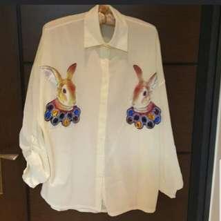 🚚 彼得兔雪紡襯衫