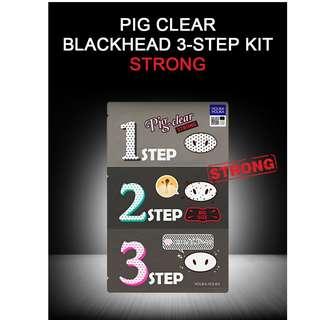 ⚡️ PROMO ⚡️ Holika Holika Pig Nose Clear Blackhead 3-Step Kit Strong (13g)