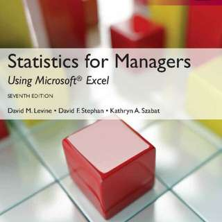 Statistics for manager