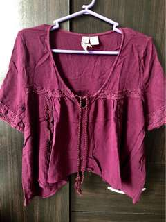 H&M Divided sexy blouse in wine