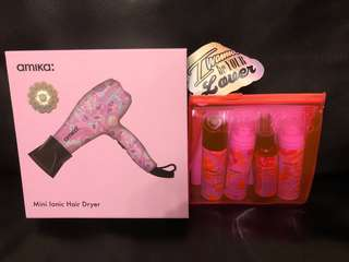 (New) Amika Purple Obliphica Mini Ionic Dryer (Limited Edition) with free Amika set