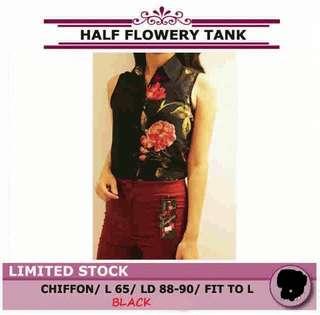 Flowery chiffon top