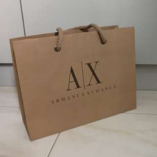 Armani AX Paper Bag for wallet sunglasses