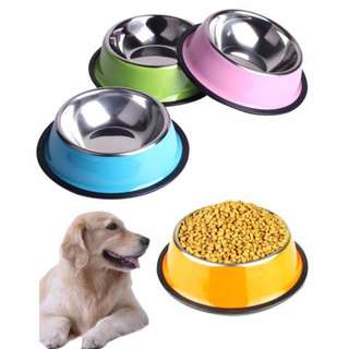 colored stainless bowl large