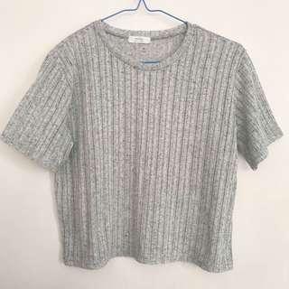 Grey Oversized Top