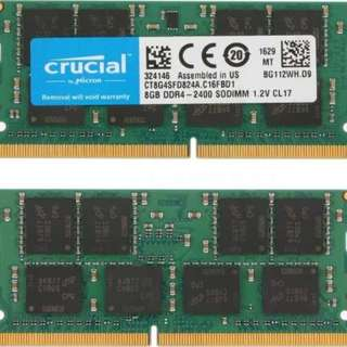 CRUZIAL 8GB DDR4 SODIMM RAM only