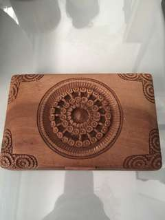 Vintage wood carving box