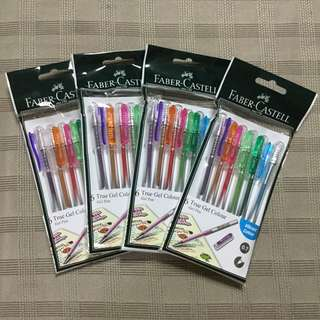 FREE NCR Delivery - 4 packs Faber Castell 6 True Gel Colour Pens (24 pcs)
