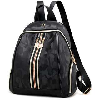 Female Chic Back Pack Black With Chic Pattern Bag #MAF40