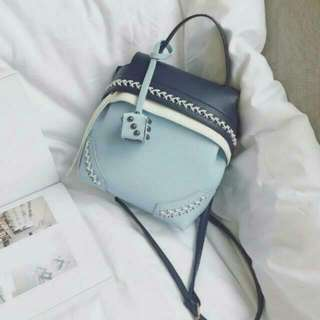 Blue Pastel Korean Style Cute Bag Sling Bag Backpack Handbag
