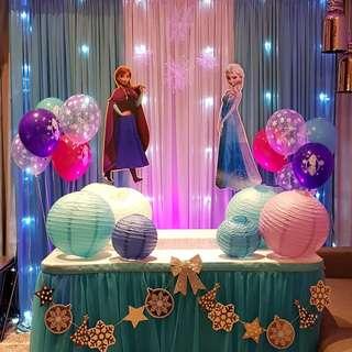 Backdrop set up - Frozen