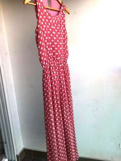 Poplook Maxi Dress - Polkadot