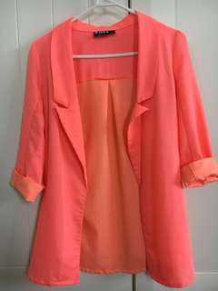 Pink and orange blazer