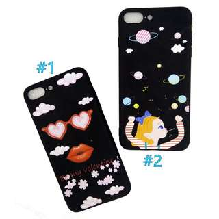 Clouds Sky Solar System Soft iPhone Case 6 6s plus 7 8 plus
