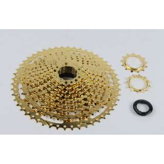 Sunshine 11-50T Anodized gold color  cassette (P.O.)
