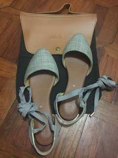 Suelas PALERMO sandals in gray SIZE 6 (with Suelas shoe bag)
