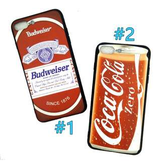 Vintage Coke Budweiser Red Soft iPhone Case 7/8 plus