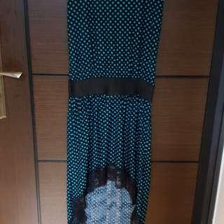 🚚 無袖水玉點點長洋裝