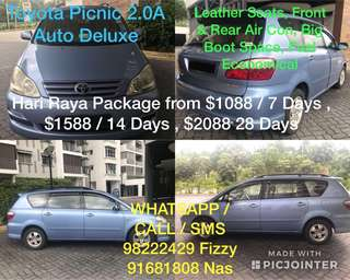 Hari Raya MPV Rental 7/14/28 Days
