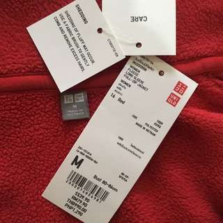 Authentic Uniqlo WOMEN Fleece Long Sleeve Full Zip Jacket (Size M) Red