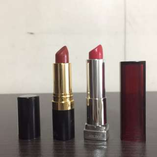 Revlon and Maybelline Red Lipstick