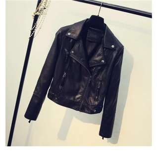 Black Leather (PU) Jacket